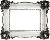 Vintage frame isolated on white Royalty Free Stock Image