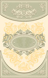 Vintage Frame or label with Floral background in o Royalty Free Stock Images