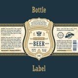 Vintage frame label. Gold sticker bottle beer Royalty Free Stock Photography