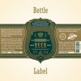 Vintage frame label. Gold sticker bottle beer Stock Image