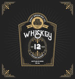 Vintage frame label for whiskey and beverage. Product. You can apply this for another product such as Beer, Wine, Shop decoration. Vector illustration Stock Image