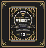 Vintage frame label for whiskey and beverage product Royalty Free Stock Image
