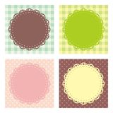 Vintage Frame Lace Vector. Cute lace frame with retro style Royalty Free Stock Photos