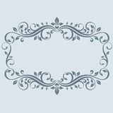 Vintage frame with leaves Royalty Free Stock Images