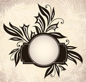 Vintage frame with lilies Stock Photos