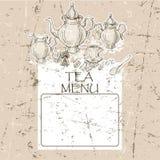 Vintage frame menu design template Royalty Free Stock Images