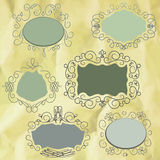 Vintage frame on old paper background. EPS8 Royalty Free Stock Photo