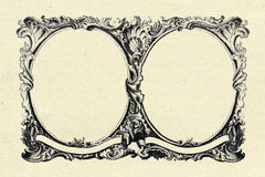 Vintage frame on old paper texture background Stock Photo