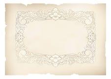 Vintage frame old paper Stock Image