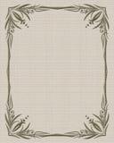 Vintage frame on old textile background Royalty Free Stock Photo