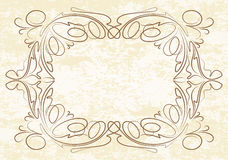 Vintage frame on old textured paper Stock Image