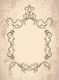 Vintage frame on old textured paper Stock Images