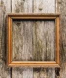 Vintage frame on old wooden background Royalty Free Stock Photos