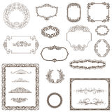 Vintage frame, ornament and element for decoration and design.. Royalty Free Stock Photos