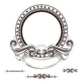 Vintage frame with ornament. Vector illustration Royalty Free Stock Image