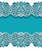 Vintage frame with lace borders Royalty Free Stock Photos