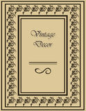 Vintage frame with ornaments Stock Photos