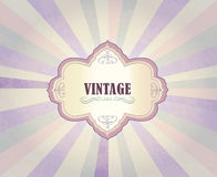 Vintage frame over retro textured background Royalty Free Stock Photo