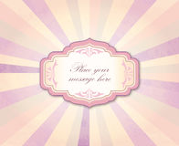 Vintage frame over retro textured background Stock Photography