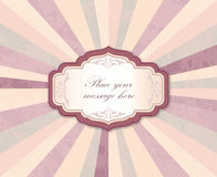 Vintage frame over retro textured background. Royalty Free Stock Photography
