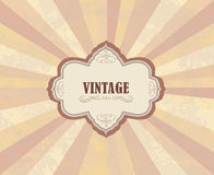 Vintage frame over retro textured background Royalty Free Stock Images