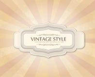 Vintage frame over retro textured background Stock Photo