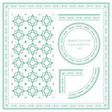 Vintage Frame Pattern Set 189 Round Cross Line Royalty Free Stock Photo
