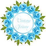 Vintage frame with peonies Royalty Free Stock Image