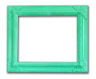 Vintage frame photo. Green vintage frame photo in isolated Royalty Free Stock Photo