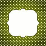 Vintage Frame polka dots Stock Photos