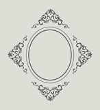 Vintage frame with retro ornament pattern Royalty Free Stock Photos