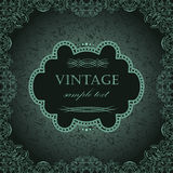 Vintage frame in retro style Royalty Free Stock Photography