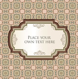 Vintage frame with ribbon and copy spase. Stock Photo