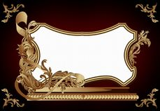 Vintage frame in rococo style Royalty Free Stock Photos
