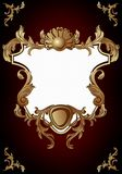 Vintage frame in rococo style Stock Photos