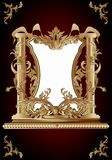 Vintage frame in rococo style Stock Images