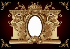 Vintage frame in rococo style. Stock Images