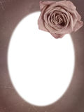 Vintage frame with rose Royalty Free Stock Images