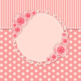 Vintage Frame with Rose Flowers Vector Royalty Free Stock Photography