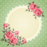 Vintage frame with roses Royalty Free Stock Photos
