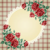 Vintage frame with roses Royalty Free Stock Photography