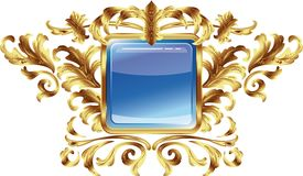 Vintage frame. Round. In a gold frame Stock Photos