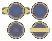 Vintage frame round pattern Stock Images