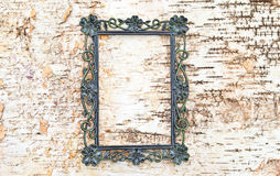 Vintage frame on rustic wooden background Royalty Free Stock Photography