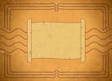Vintage frame with scroll Royalty Free Stock Images