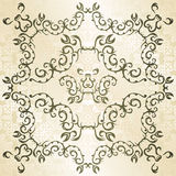 Vintage frame on seamless background Royalty Free Stock Images
