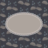 Vintage frame on seamless flower pattern Stock Photography