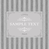 Vintage frame on seamless tweed pattern Stock Images