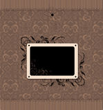 Vintage frame with seamless wallpaper Stock Image