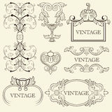 Vintage frame set Royalty Free Stock Photos